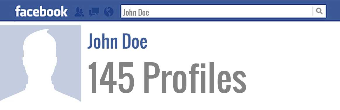 John Doe facebook profiles