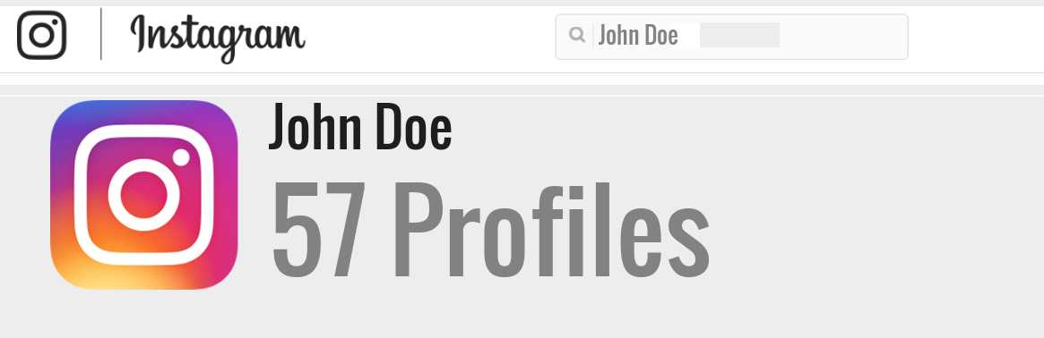 John Doe instagram account
