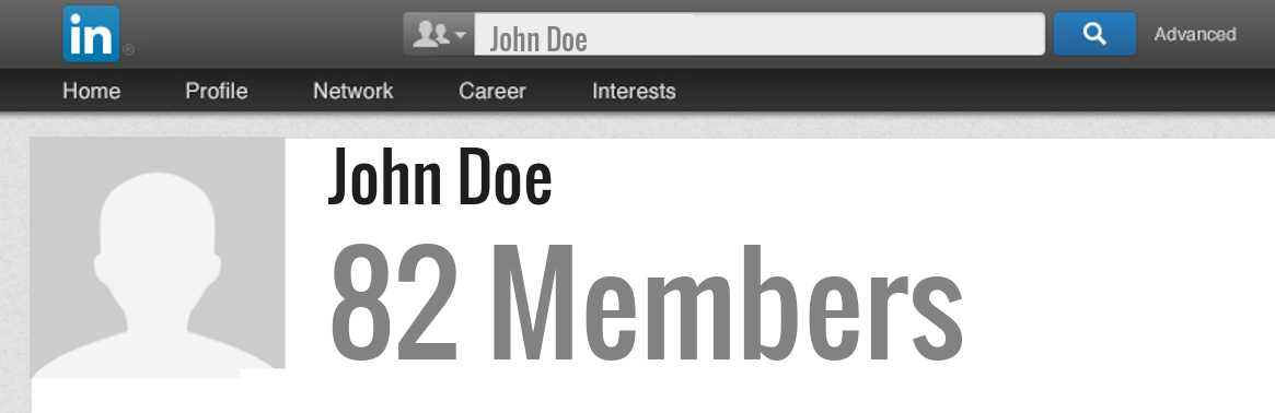 John Doe linkedin profile