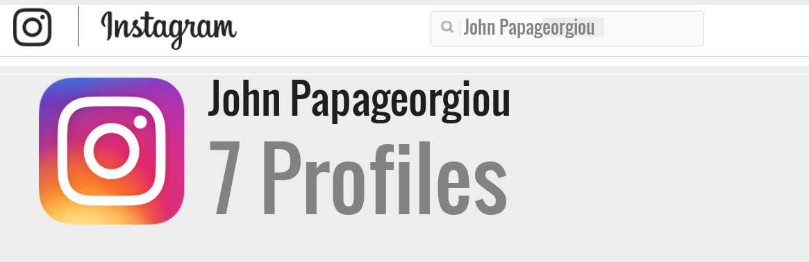 John Papageorgiou instagram account