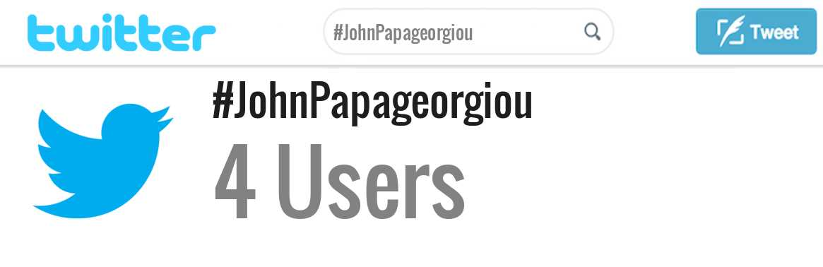 John Papageorgiou twitter account