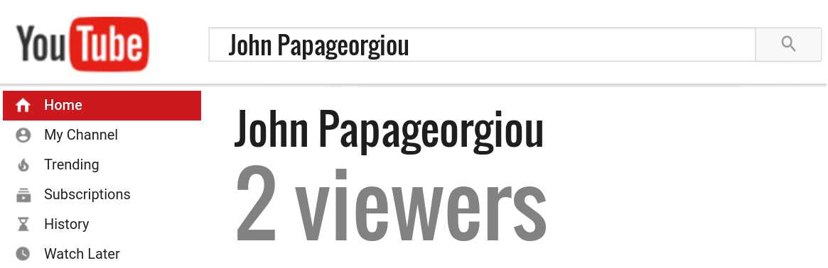 John Papageorgiou youtube subscribers
