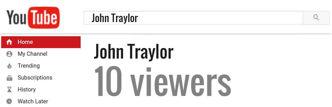 John Traylor youtube subscribers