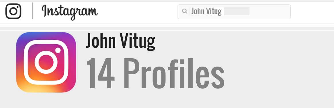 John Vitug instagram account