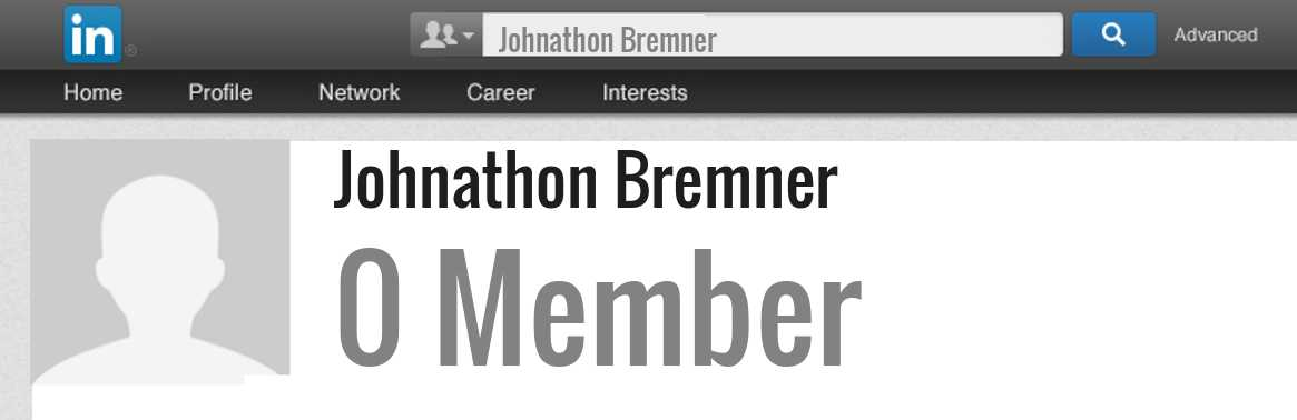 Johnathon Bremner linkedin profile