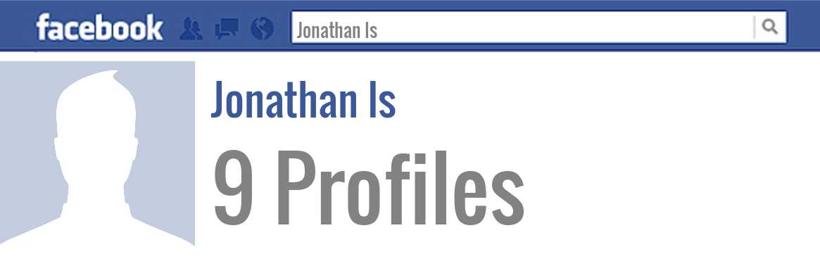 Jonathan Is facebook profiles