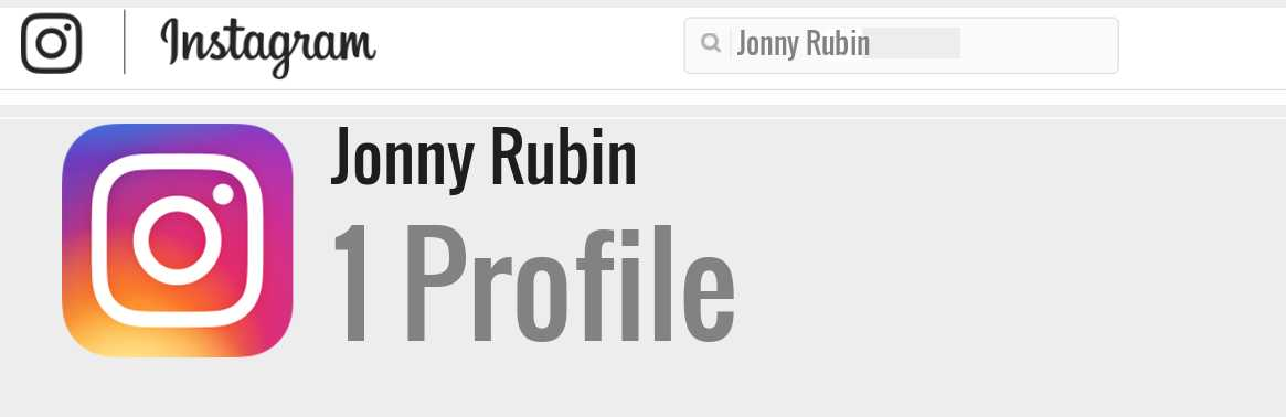 Jonny Rubin instagram account