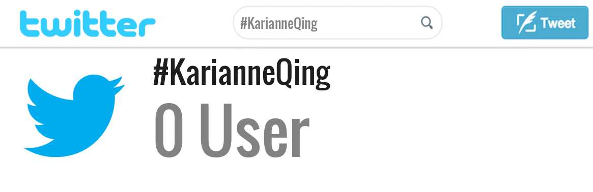 Karianne Qing twitter account