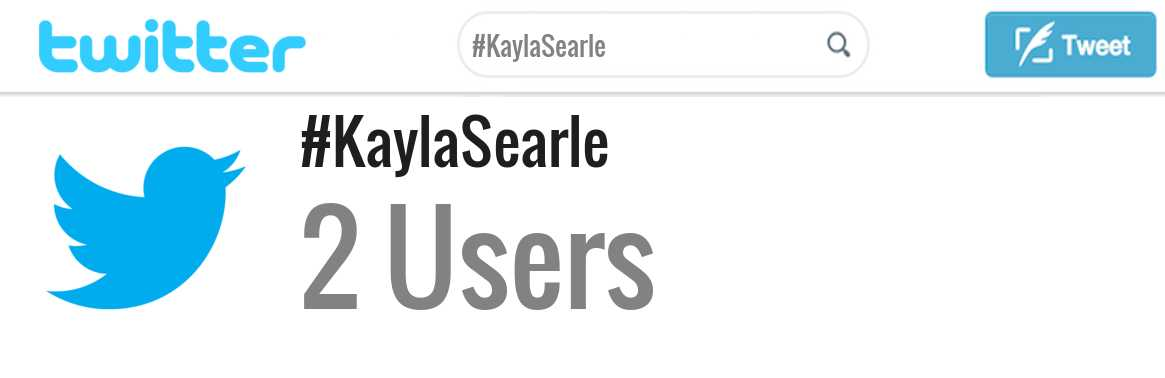 Kayla Searle twitter account