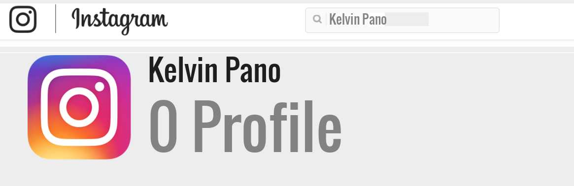 Kelvin Pano instagram account