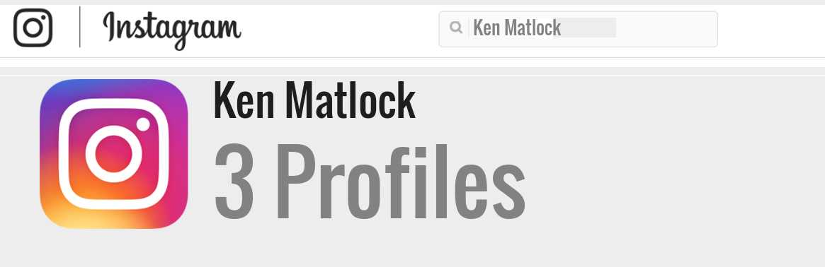 Ken Matlock instagram account