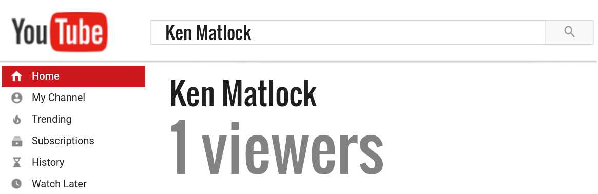 Ken Matlock youtube subscribers