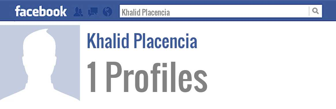 Khalid Placencia facebook profiles