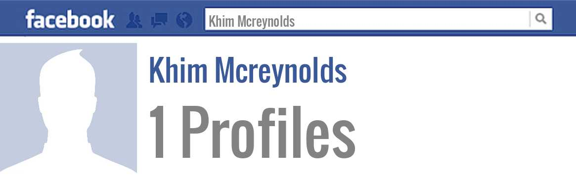 Khim Mcreynolds facebook profiles