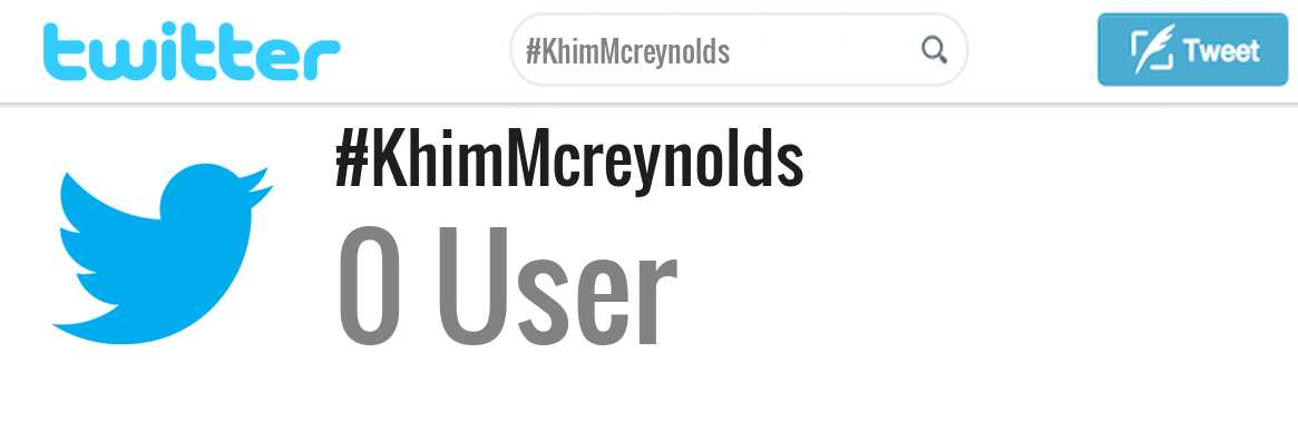 Khim Mcreynolds twitter account