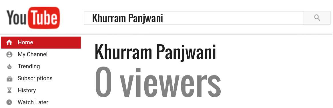 Khurram Panjwani youtube subscribers