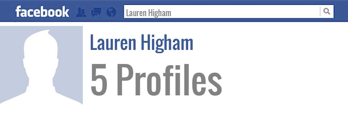 Lauren Higham facebook profiles