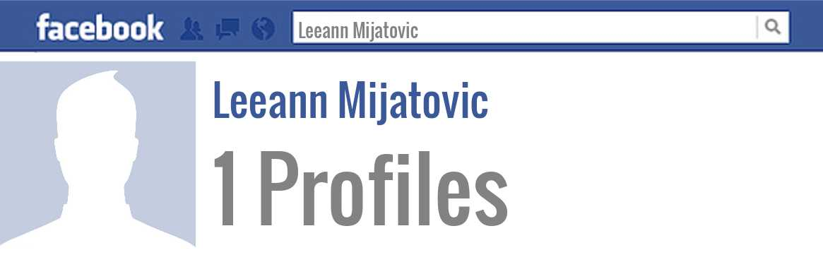 Leeann Mijatovic facebook profiles
