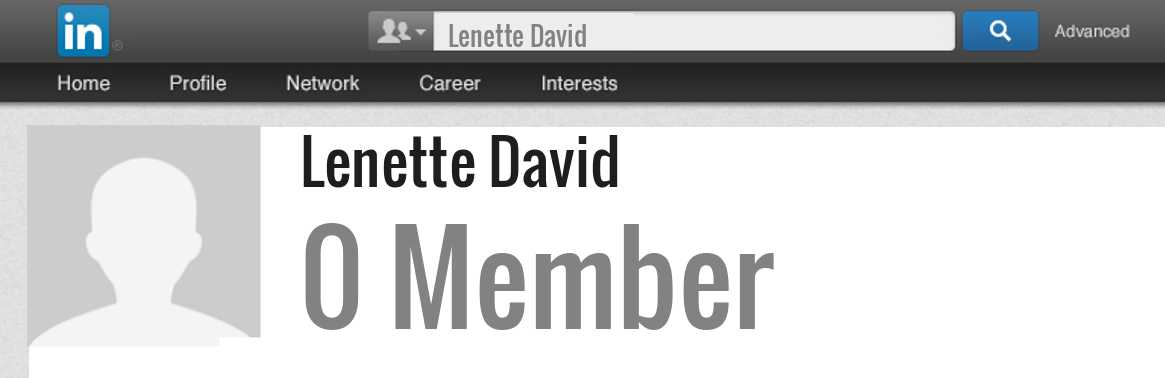 Lenette David linkedin profile