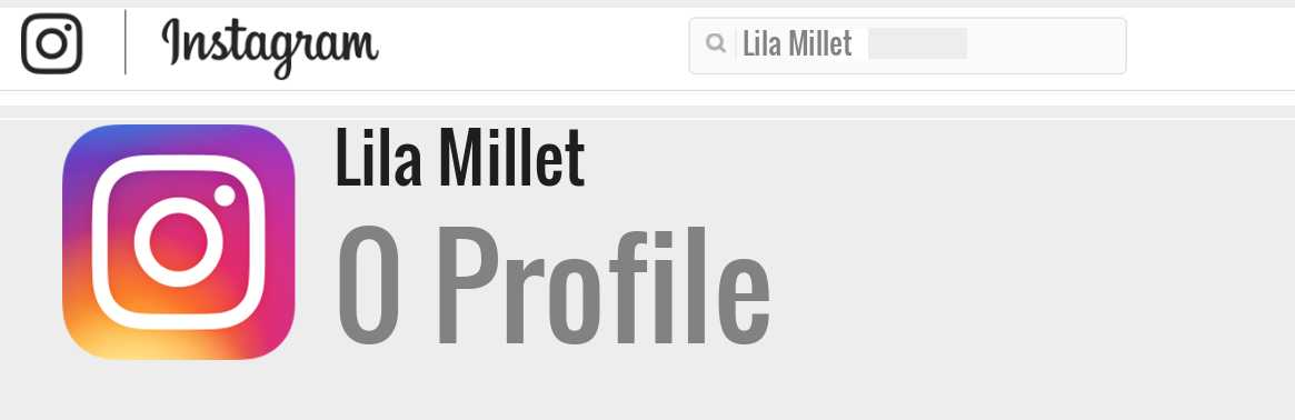 Lila Millet instagram account
