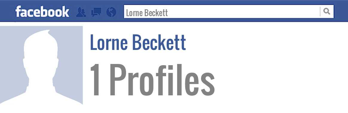 Lorne Beckett facebook profiles