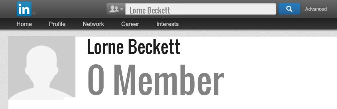 Lorne Beckett linkedin profile