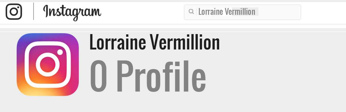 Lorraine Vermillion instagram account