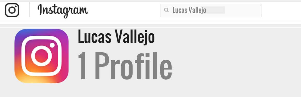Lucas Vallejo instagram account
