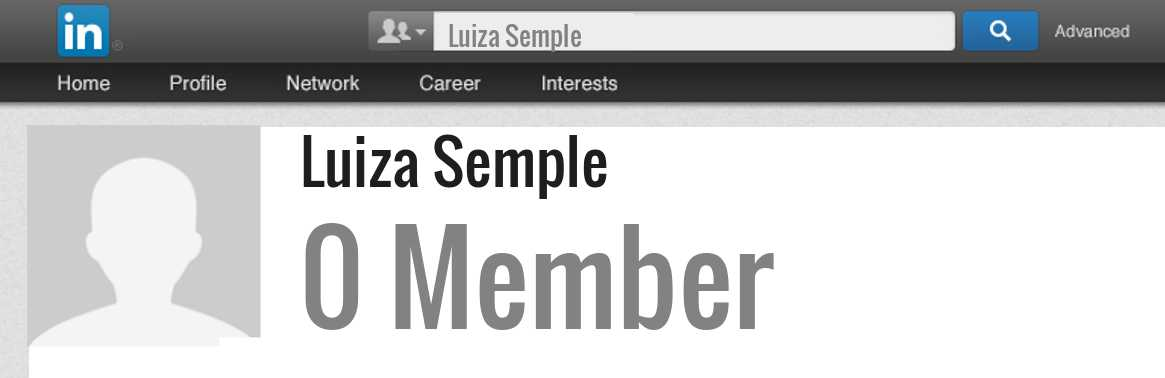 Luiza Semple linkedin profile