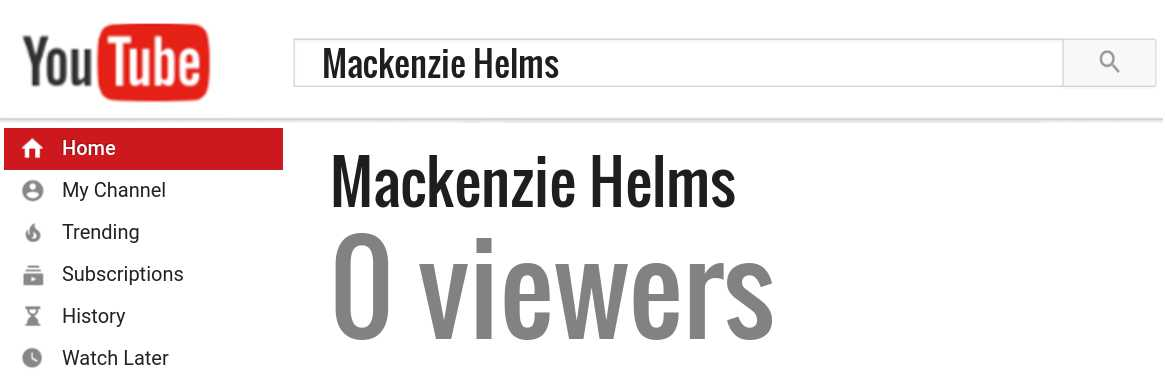 Mackenzie Helms youtube subscribers