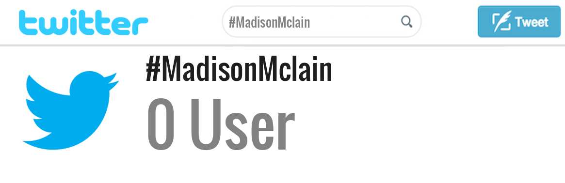 Madison Mclain twitter account
