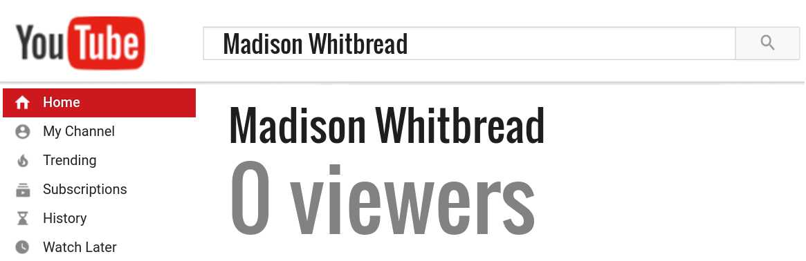 Madison Whitbread youtube subscribers