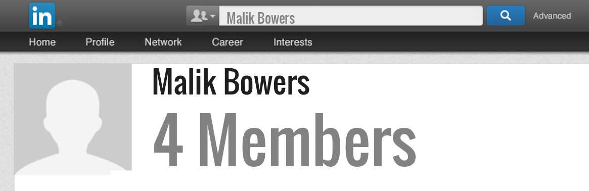 Malik Bowers linkedin profile