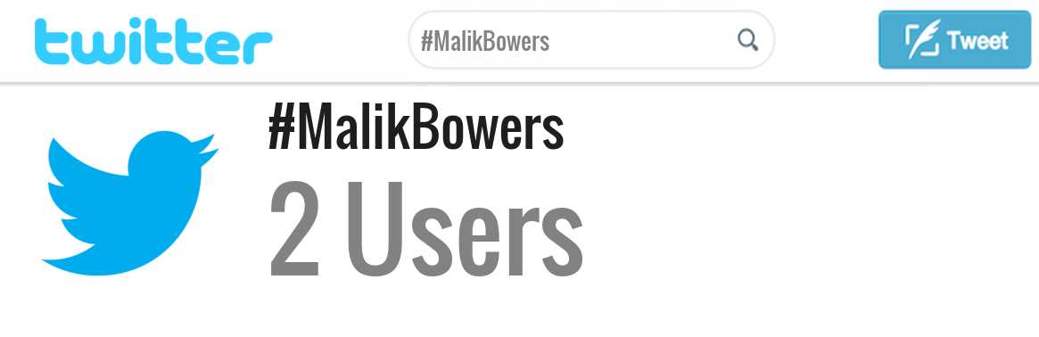 Malik Bowers twitter account