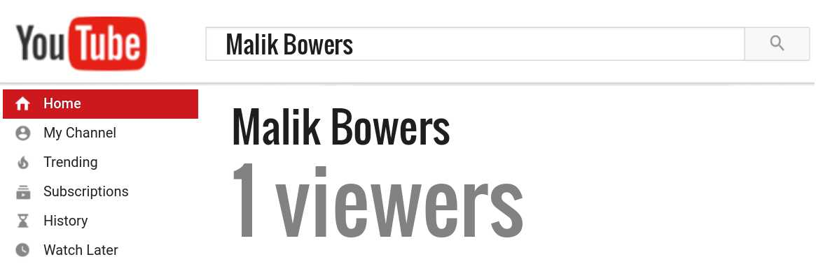 Malik Bowers youtube subscribers
