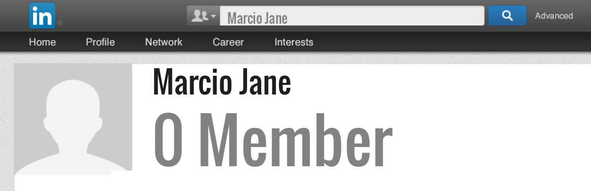 Marcio Jane linkedin profile