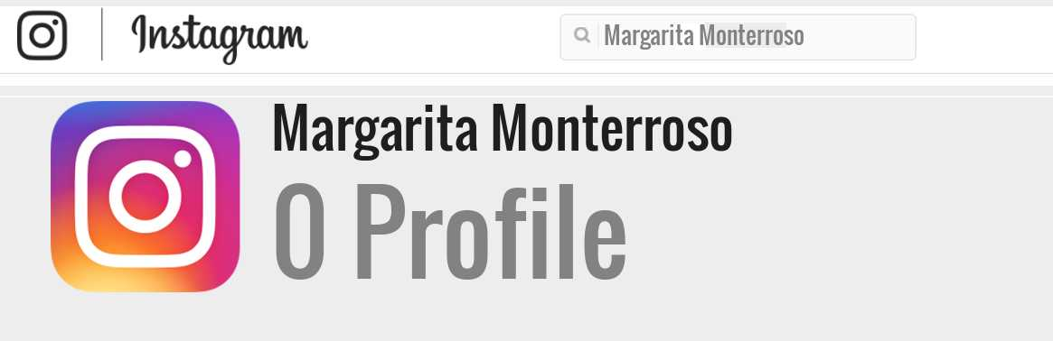 Margarita Monterroso instagram account