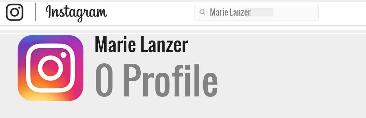 Marie Lanzer instagram account