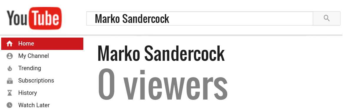 Marko Sandercock youtube subscribers