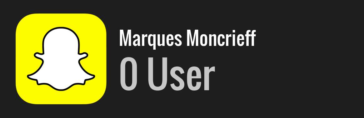 Marques Moncrieff snapchat