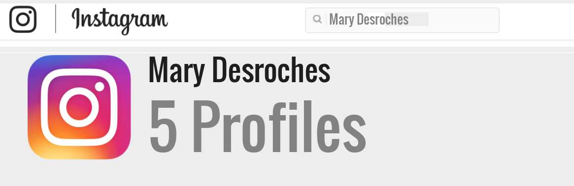 Mary Desroches instagram account