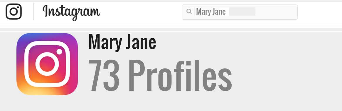 Mary Jane instagram account