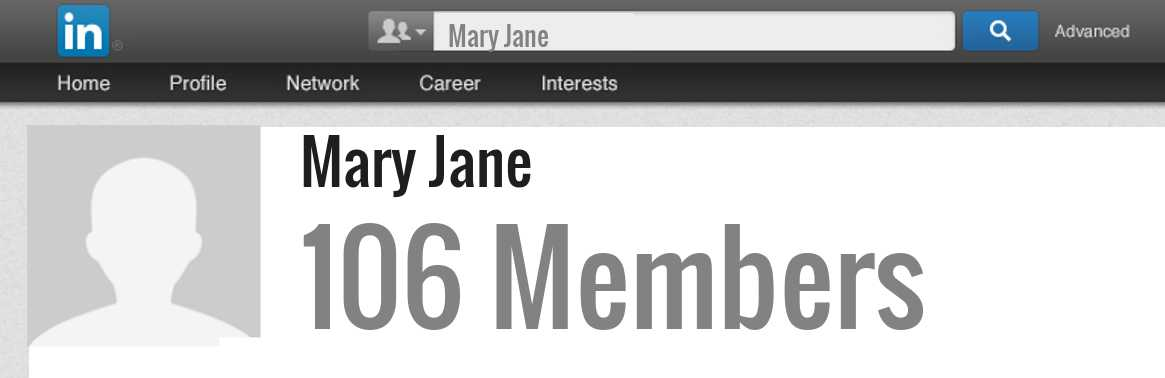 Mary Jane linkedin profile