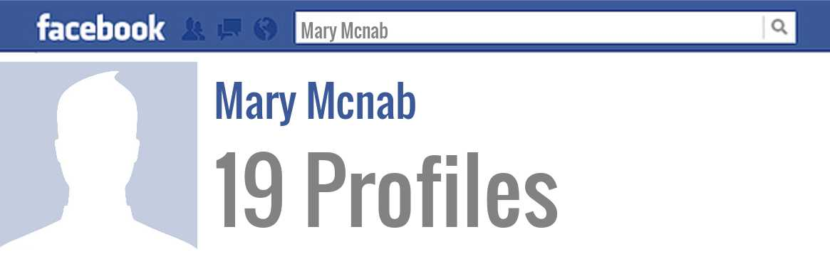 Mary Mcnab facebook profiles