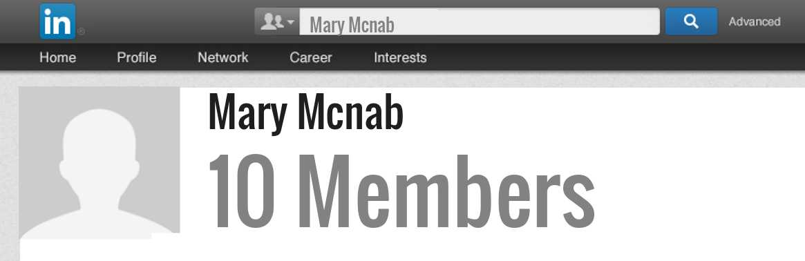 Mary Mcnab linkedin profile