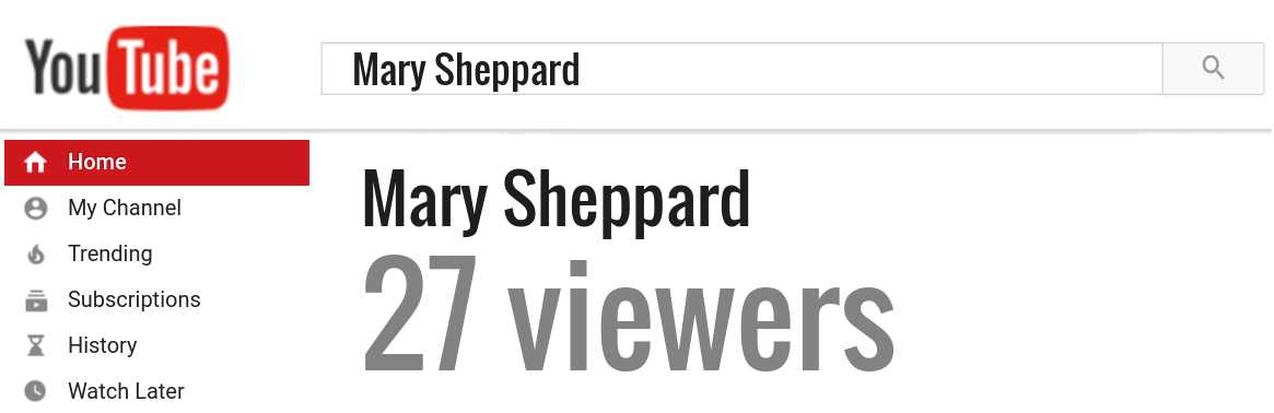 Mary Sheppard youtube subscribers