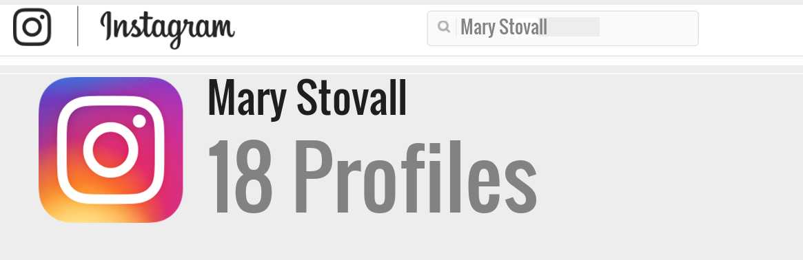 Mary Stovall instagram account