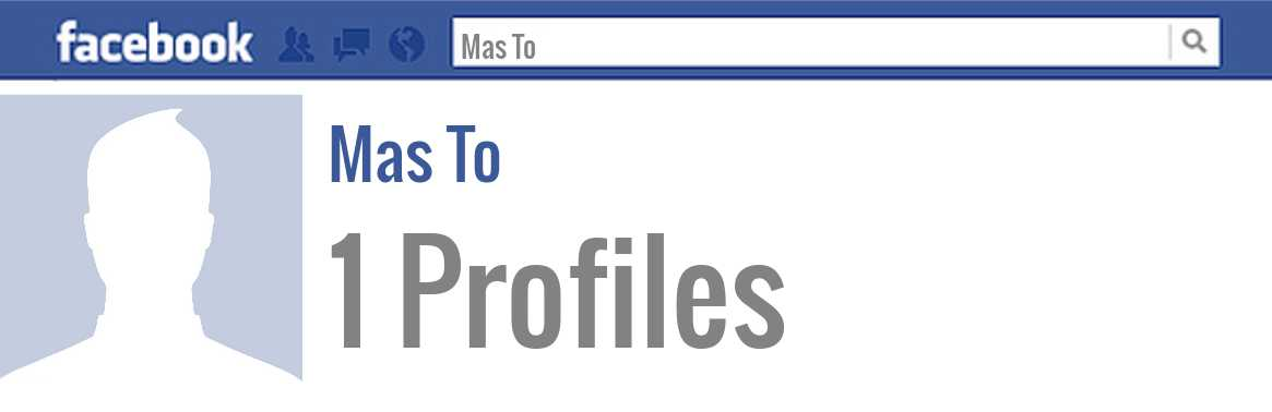 Mas To facebook profiles
