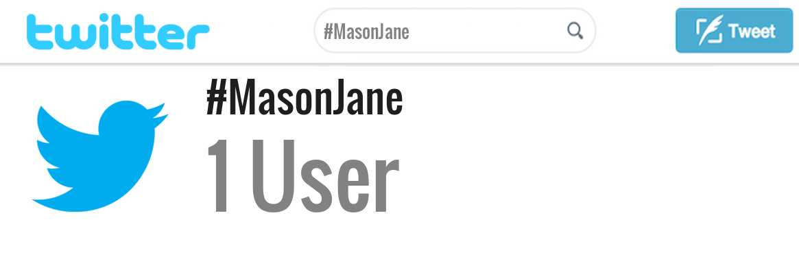 Mason Jane twitter account