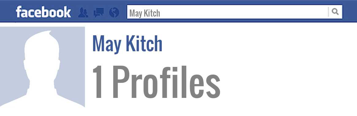 May Kitch facebook profiles